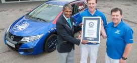Weltrekord mit 2,82 Liter auf 100 Kilometer: Honda Civic Tourer fährt durch alle EU-Länder