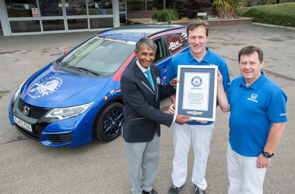 Guiness World Record im Honda Civic Tourer