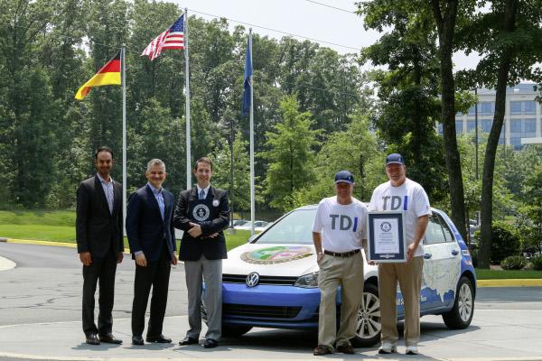 Volkswagen Golf Clean Diesel nach der Rekordfahrt