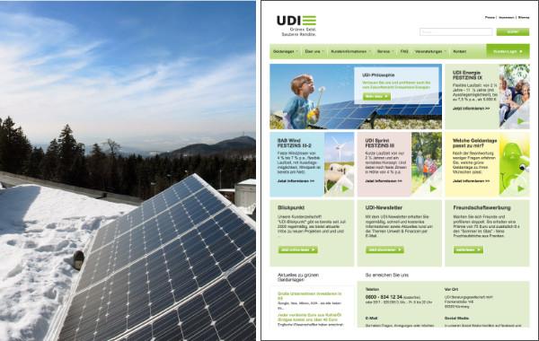 Solaranlage und UDI Webseite