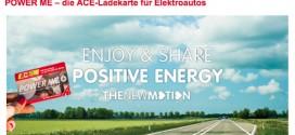 POWER ME: ACE Ladekarte für 25.000 öffentliche E-Auto Ladestationen