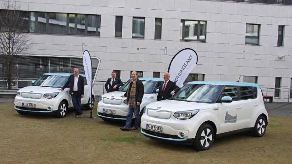 Ordnungsamt Frankfurt übernimmt drei Kia Soul EV