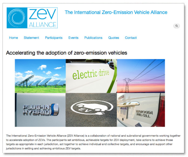 ZEV Alliance Webseite