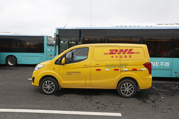 BYD T3 Elektrotransporter für DHL China