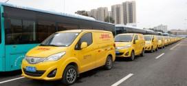 DHL setzt in China auf die elektrischen BYD T3 Transporter