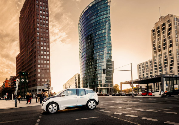 DriveNow BMW i3 Elektroauto in Berlin