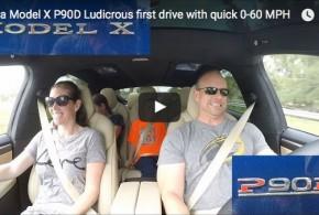 In den Sitz gepresst: Beschleunigung im Tesla Model X P90D