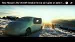 Video: Nissan Leaf bricht das Eis