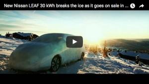 Der neue Nissan LEAF mit 30 kWh Batterie bricht das Eis