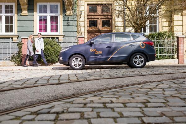 Linde BeeZero Carsharing mit Hyundai ix35 Fuell Cell
