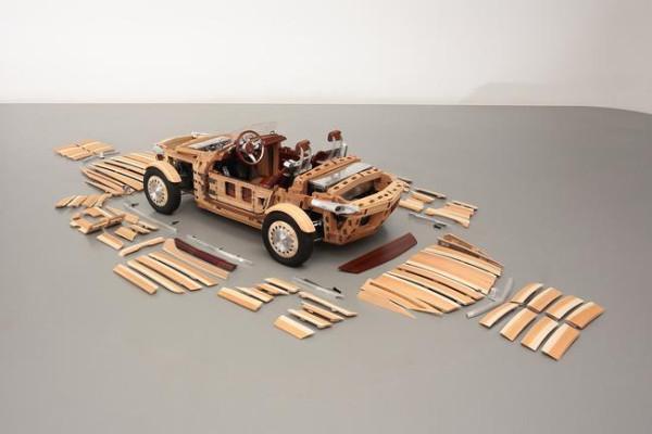 Toyota Setsuna Concept - Einzelteile aus Holz