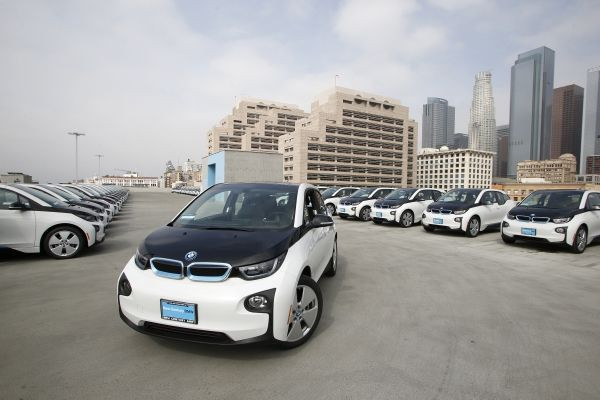 BMW i3 Polizeiautos des Los Angeles Police Departments