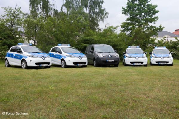 Elektroautos bei der Polizei
