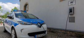 Polizei Sachsen umweltschonend in 20 neuen Renault Elektroautos unterwegs