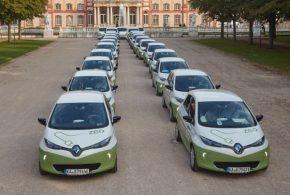 Carsharing mit Renault ZOE Elektroautos im Landkreis Karlsruhe