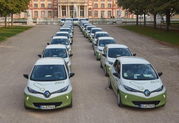 zeozweifrei Carsharing mi Renault Zoe Elektroautos