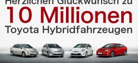 Toyota feiert Meilenstein von zehn Millionen Hybridfahrzeugen