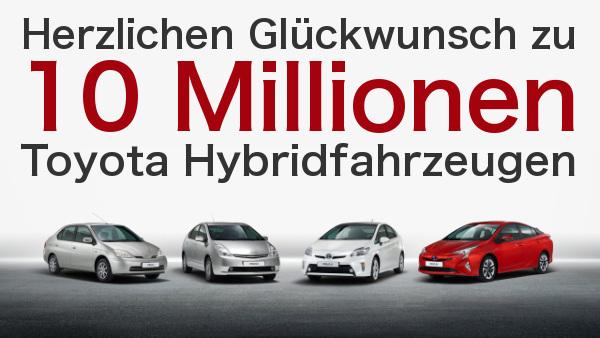 Vier Toyota Prius Generationen