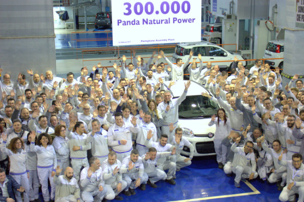 300.000ster Fiat Panda Natural Power