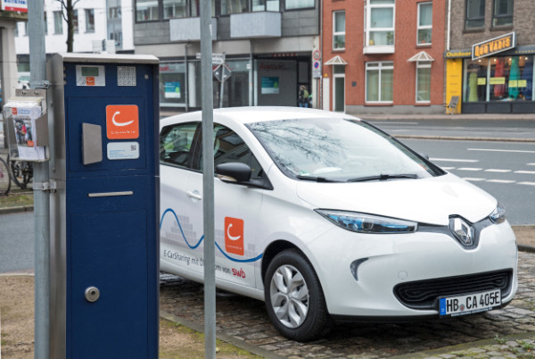 Cambio E-Car-Sharing in der Birkenstraße in Bremen