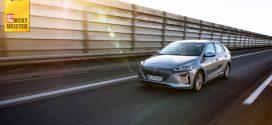 Hyundai IONIQ Elektro ist bei den Elektroautos der Wertmeister 2017