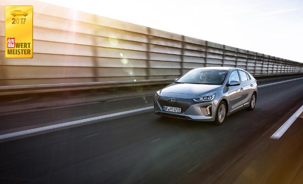 Hyundai Ioniq Elektro ist Wertmeister 2017