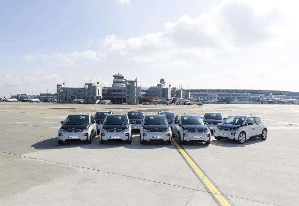 BMW i3 im Fuhrpark des Airport Düsseldorf