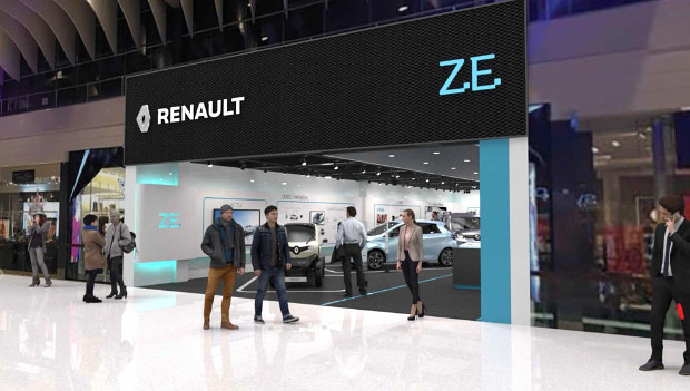 Renault Electric Vehicle Experience Center in Stockholm