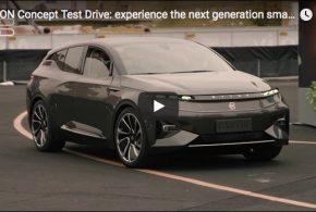 Testfahrten mit dem BYTON Concept Elektroauto