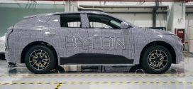Erste BYTON M-Byte E-Autos sind zu Testzwecken auf Chinas Strassen unterwegs