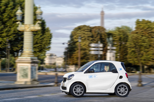 car2go Elektro-Smart in Paris
