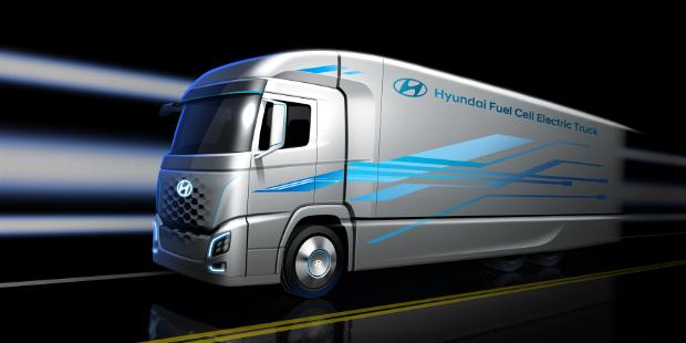 Hyundai FCEV Lkw mit Brennstoffzellenantrieb