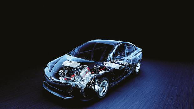 Toyota Prius - Blick ins Innere