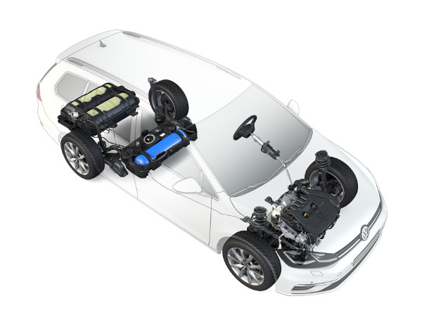 VW Golf Variant TGI - Tanks im Unterflur