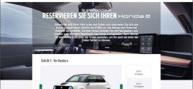 Honda e kann ab sofort gegen 800 Euro erstattbare Gebühr reserviert werden