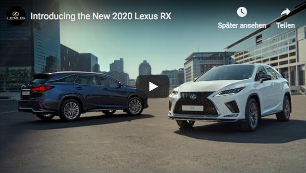 Video zur Markteinführung des 2020 Lexus RX