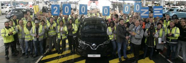 Jubiläum: 200000 Renault ZOE in Flins produziert