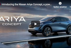 Vorstellung des Elektro-Crossovers Nissan Ariya Concept