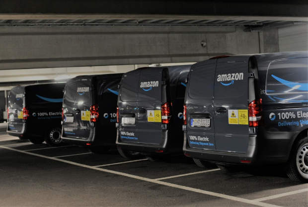Mercedes-Benz eVito - Elektro-Transporter von Amazon in München