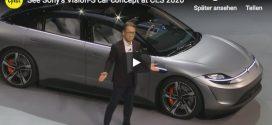 Sony Vision-S: Vorstellung des E-Autos auf der CES 2020