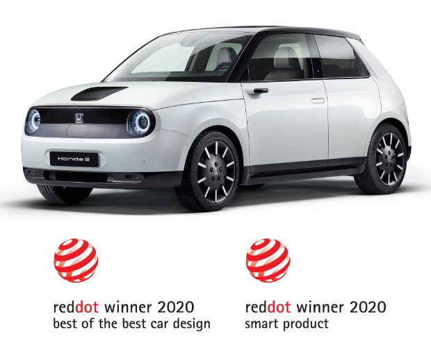 Honda e gewinnt Red Dot Design Awards 2020