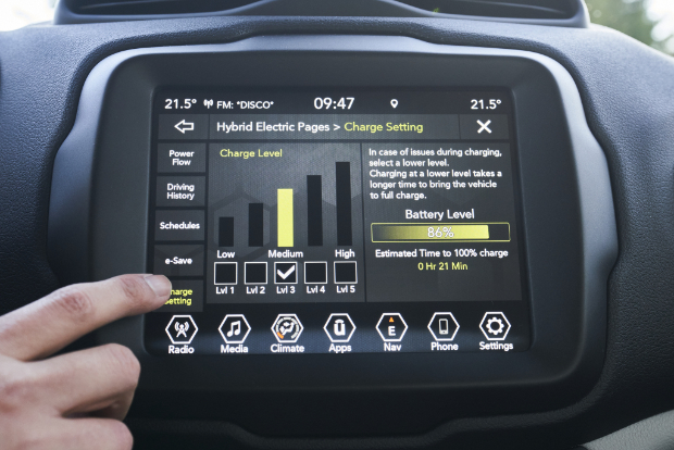 Jeep Renegade 4xe - Touchscreen-Display