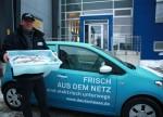 Frische Fische Auslieferung mit dem e-up - Deutsche See