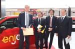 Guido Improta, Salvatore Sardo, Gianluca Italia, Vincenzo Soprano - Start des Enjoy Carsharing in Rom