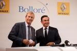 Carlos Ghosn von Renault (rechts) und Vincent Bolloré von Bolloré vereinbaren eine Kooperation