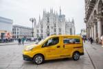 Nissan e-NV200 Elektrotransporter von DHL in Rom