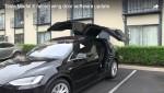 Video: Model X mit Update für die Flügeltüren