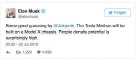 Kommt bald ein Tesla Van mit Elektroantrieb?