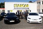 Tesla Model S Elektroautos für STARCAR