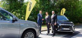 Hertz Deutschland erweitert seine Flotte um 50 Mitsubishi Outlander Plug-in-Hybrid